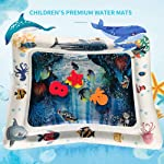Inflatable Tummy Time Water Play Mat, Comfortable Baby Tummy Time Mat Toys The Perfect Fun Time Play Activity Center Your...