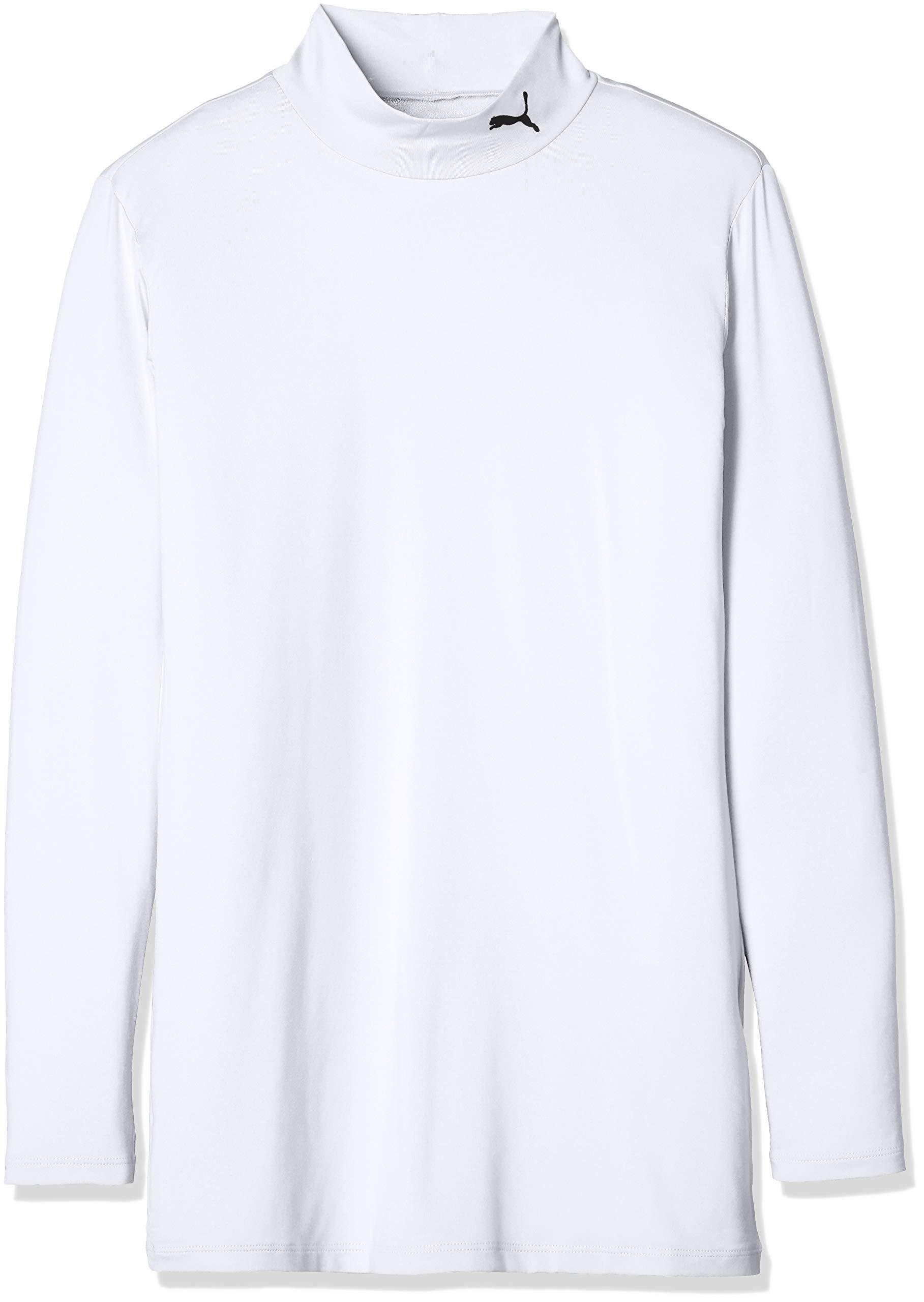 PUMA プーマ サッカー ジュニア長袖インナーシャツ コンプレッション ジュニア モックネック LS 65633204 ボーイズ プーマ ホワイト/プーマ ブラック