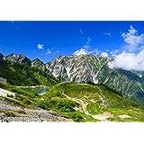 絵画風 壁紙ポスター (はがせるシール式) -地球の撮り方- 白馬三山を写す八方池の絶景と唐松岳登山 日本の絶景 キャラ…