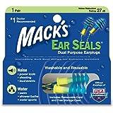 MACKS 耳栓 イヤーシールズ コード付き シリコン製 ブルー