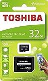 32GB microSDHCカード マイクロSD TOSHIBA 東芝 CLASS10 UHS-I R:100MB/s SDアダプター付 海外リテール THN-M203K0320