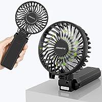 携帯扇風機 【2020年最新改良モデル】手持ち扇風機 充電式 「4in1機能搭載」ハンディファン USB扇風機 5200…