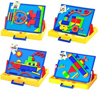 Wishtime 3way お絵かきボード セット マグネット ホワイトボード 黒板 組立て コンパクト収納 知育 おもちゃ(絵)