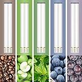ARASHI FLEVO互換 フレーバーカートリッジ 5種メンソール ビタミン配合 大人気5本セット 集合① [510 Lite/パールホワイト]