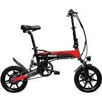 G100 14インチ折りたたみ自転車、400Wモーター、フルサスペンション、ダブルディスクブレーキ、LCDディスプレイ付き、5段ペダルアシスト