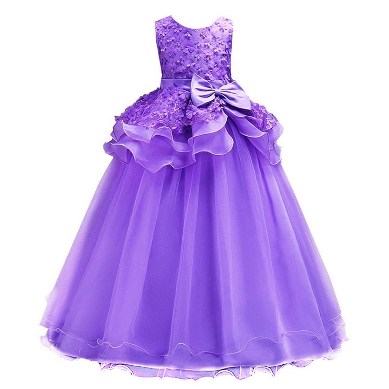 ac2d50116945f AOIF 子供ドレス ロングドレス 女の子 ジュニア ピアノ 発表会 ...