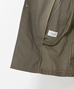 Cotton Linen Trench Coat 1125-133-5935: Olive