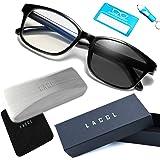 LACCL (ラクル) ブルーライトカット 調光メガネ 3イン1 軽量 20グラム 伊達眼鏡 メンズ 度なし UV 90%以上 004