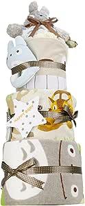 出産祝い スタジオジブリ となりのトトロ 超豪華3段 おむつケーキ パンパース テープタイプ S 男女兼用