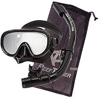 REEF TOURER 浮潛面罩 浮潛 2件套 硅膠制 帶網眼袋 RC0203/RC0105