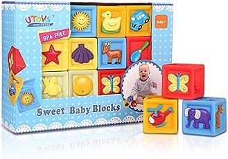 Bemixc 音の出る積み木 赤ちゃんおもちゃ 想像力を育つ知育玩具 おままごと10pcs 出産お祝い お誕生プレゼント