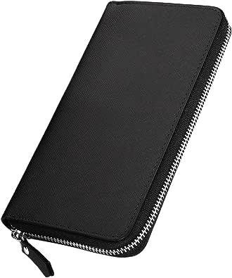 [ジルマン] 財布 メンズ 長財布 牛革 YKK製 ラウンドファスナー