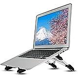 Megainvo ノートパソコン スタンド PCスタンド ノート 折りたたみ式 PCホルダー 高さ・角度調整可能 軽量 アルミ合金 PC/MacBook/ラップトップ/iPad/タブレット 3in1