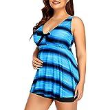 Yonique Women Plus Size Tankini Swimsuit 2 Piece Flowy Bathing Suit Tummy Control Swimwear with Shorts