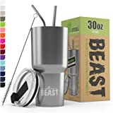 BEAST 30oz Stainless Steel Tumbler Vacuum Insulated Rambler Coffee Cup Double Wall Travel Flask Mug with Splash Proof Lid, 2