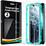 ESR iPhone 11 ProMax用 ガラスフィルム 2枚入り 強化ガラス ガイド枠付き 液晶保護フィルム 6.5インチ