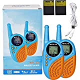 Retevis RT35 Walkie Talkies Rechargeable Flashlight LCD Boys Two Way Radio for Adults Kids(2 Pack)