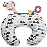 Boppy Tummy Time Prop Pillow, Black White & Rainbow
