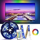TV LED Backlight, LT 6.65ft USB Led Lights Strip for 40-65 TV/Monitor Backlight, LED TV Lights with 24 Keys Infrared Remote C