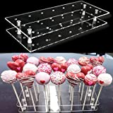 Goabroa Cake Pop Display Stand, 21 Hole Clear Acrylic Lollipop Holder Weddings Baby Showers Birthday Parties Anniversaries Ha