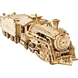 ROKR DIY Train Model Wooden Vehicle Model Kits 3D Puzzle Toy  Boy Girl