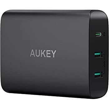 USB充電器 ACアダプター PD3.0対応 60W AUKEY タッブレット充電器 USB Type-C Power Delivery 3.0 + 5V/2.4A スマホ充電器 MacBook/Pro, Dell XPS, iPhone X / 8 / Plus, Samsung Note8 など対応 PA-Y12【PSE認証済み】