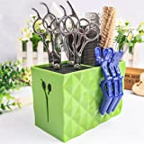 Professional Salon Scissors Holder Rack, Hairdresser Scissor Storage Case Keeper, Modern Hairdressing Combs Clips Desktop Des