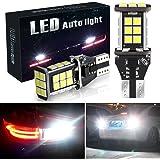 Botepon 1600 Lumens Extremely Bright 921 912 T15 Led Backup Lights Bulb, Error Free 3030 24-SMD Led Bulb for Car Led Backup R