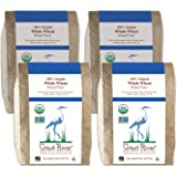 Great River Organic Milling, Bread Flour, Whole Wheat , Stone Ground, Organic, 5-Pounds (Pack of 4)