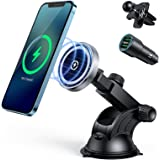 15W Magnetic Car Wireless Charger for iPhone 12/12 Pro/ 12 Pro Max/12 Mini, Auto-Alignment Air Vent Dashboard Mag-Safe Car Ch