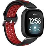 TERSELY Replacement Band for Fitbit Versa 3 / Sense, Sports Soft Fitness Silicone Watch Strap Watchband Smartwatch Bracelet f