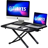 FITUEYES Height Adjustable Standing Desk 30inch/78.5cm Ergonomic Working/Study Table for Home Office, Sit to Stand in Seconds