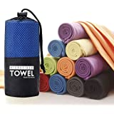 Microfibre Towel, TOPIND 40x80cm Blue Quick Dry Sports Towel Fabric Ultra Absorbent Lightweight Antibacterial Sports Towel fo