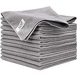 Buff Pro Multi-Surface Microfiber Towel ? 12 Pack| Premium Cleaning Cloths | Dust Scrub Clean Polish Absorb | Large 16x16 (Gr