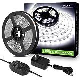 LE 16.4ft 12V Flexible LED Light Strip LED Tape 6000K Daylight White 300 Units SMD 2835 LEDs Non Waterproof LED Ribbon LED Li