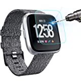 KIMILAR [3-Pack] Screen Protector Compatible with Fitbit Versa/Versa Lite Smart Watch, Waterproof Tempered Glass Screen Prote