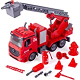 iLifeTech Fire Truck with Lights and Sound 3 in 1 Take Apart Car Toys for 3+ Years Old Boy and Girl (Fire Truck)