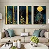 Wall Art Modern Painting Nordic Minimalist Woods Poster Canvas 3 Pieces Art Gift Home Print Decoration Framed Picture for Liv