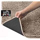 Kangaroo Plush Luxury Chenille Bathroom Rug Mat (24 x 17), Extra Soft and Absorbent Shaggy Rugs, Machine Wash/Dry, Strong Und