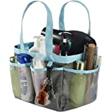 Haundry Mesh Shower Caddy Tote, Large College Dorm Bathroom Caddy Organizer with Key Hook and 2 Oxford Handles,8 Basket Pocke