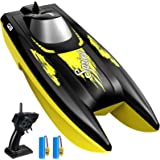 RC Boat for Kids, SYMA Q9 Remote Control Boat for Pools and Lakes with 2.4GHz 10km/h Speed, Double Power, Low Battery Reminde