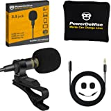 Professional Grade Lavalier Lapel Microphone Omnidirectional Mic with Easy Clip On System Perfect for Recording YouTube/Inter
