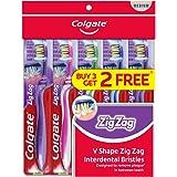 Colgate ZigZag Toothbrush, Medium, 5ct