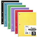 """Mead 73605 Spiral Notebooks, Assorted, 10-1/2"""" x 7-1/2"""", 6 Count"""