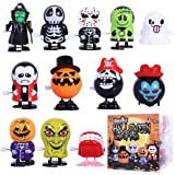 Max Fun 12Pcs Halloween Wind Up Toys Assortment for Halloween Party Favors Goody Bag Filler (Halloween Wind-up Toys 2)