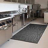 "Anti-Fatigue Mat Kitchen Rubber Floor Mats Bar Floor Mat New Indoor Commercial Heavy Duty Drainage Floor Bath Mat Black 36"" x"