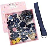 Baby Girl's Boutique Hair Clips Cute Hair Bows, TERSELY 18 Pieces Little Girl Hair Accessories Gift Set Hair Clips Hairpins B