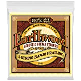 Ernie Ball P02061 Ernie Ball Earthwood 5-String Banjo Frailing Loop End 80/20 Bronze Acoustic Guitar Strings, NA