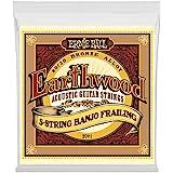 Ernie Ball P02061 Ernie Ball Earthwood 5-String Banjo Frailing Loop End 80/20 Bronze Acoustic Guitar Strings, NA