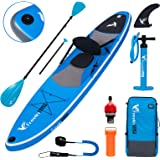 Freein Stand Up Paddle Board Inflatable SUP 10'/10'6 Long with Kayak Conversion Kit,Package∣Kayak seat,Adj 2 in 1 Paddle,Back